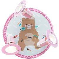 Little Indians ceiling light Bj rn Bear mint pink
