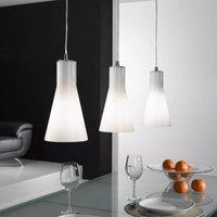 Dana glass hanging light  three bulb