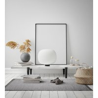 Bombo table lamp  frosted glass 27 cm high   30 cm