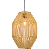 Anteo hanging light made of rattan  high oval