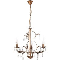 Teresa chandelier with crystals  3 bulb