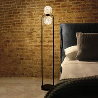 Tribeca LED floor lamp with alabaster two bulb
