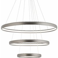 Trinity LED hanging light made of aluminium silver