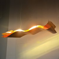 Knikerboker A Tempo Perso   gold leaf hanging lamp