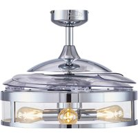 Fanaway Classic ceiling fan with light  chrome
