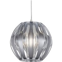 Spherical hanging light Pumpkin with silver rods