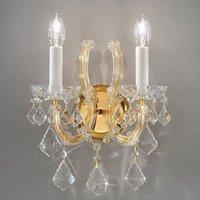 KOLARZ Maria Louise wall lamp 24 carat gold 2 bulb