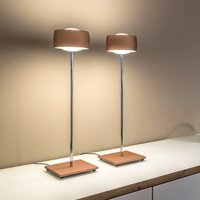 With gesture control   LED table lamp Grace copper