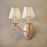 Wall light Brionia with satin shades