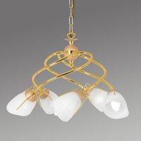 Gold coloured pendant light Rondo