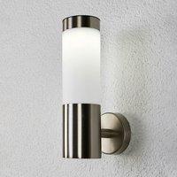 Zylindrische LED-Solarwandlampe Aleeza, Edelstahl