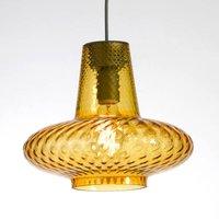 Image of Glas-Pendelleuchte Giulietta, amber