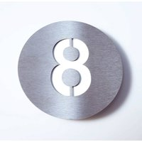 Stainless steel house number Round   8