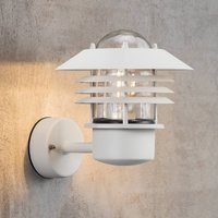 White outdoor wall lamp Island