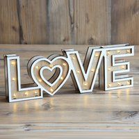 Aimi   LED table lamp Love with batteries