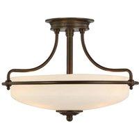 Griffin ceiling lamp  43 cm  bronze