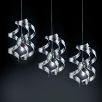 Graceful hanging light Silver 3 bulb