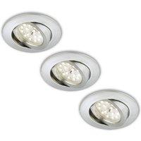 Pivo  Erik LED recessed light  set of 3  aluminium