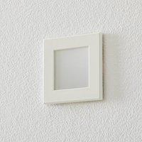 BEGA Accenta wall lamp angular frame white 315 lm