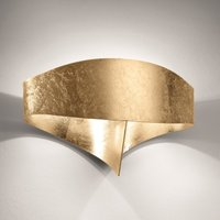 Scudo LED wall light with gold leaf