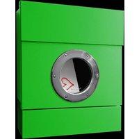 Letterman II wall letterbox  newspaper slot  green