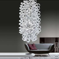 Perfectly shaped hanging light White long oval