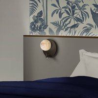 Tribeca LED wall light with reading light