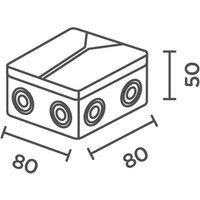 Junction box for IP44 de LED deck light