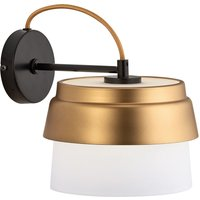 Morgan wall light  glass lampshade  white and gold