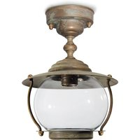 Antique brass ceiling light Olivia