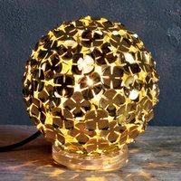 Gold coloured Ortenzia table lamp w  floral design