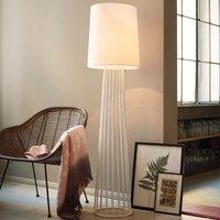 White fabric floor lamp Milan