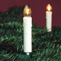 Pretty fluted candle string lights  20 bulbs