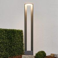 Topmoderne LED-Wegelampe Jeny in Dunkelgrau