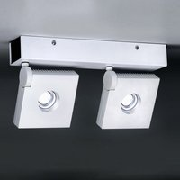 Rotatable pivotable LED wall light Bridge two bulb