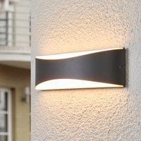 Anthrazitfarbene LED-Außenwandleuchte Akira