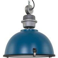 Industrial hanging lamp Bikkel in stylish petrol
