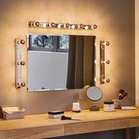 E14 2 5 W 827 LED half mirror bulb  copper