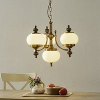 Delia hanging light in antique brass  four bulb