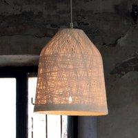 White designer pendant lamp Black Out  35 cm