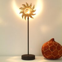 Iron table lamp SONNE GOLD