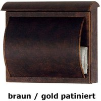 Letterbox TORES brown   gold patinated