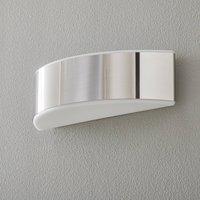 BEGA Prima wall light polished steel cover 35.4cm