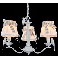 3 bulb hanging lamp Bird with linen lampshades