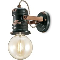 C1843 wall light with a vintage design  black