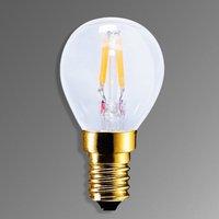 E14 2 2 W 922 LED lamp in carbon filament design