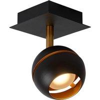 Black LED ceiling spotlight Binari  spherical