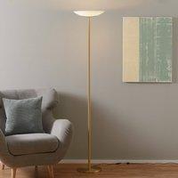 High quality LED uplighter Mika in matt brass
