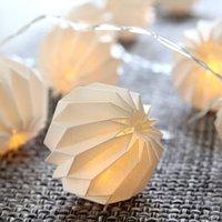 Delicate LED string lights Paper Flower