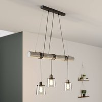 Karrl hanging light  3 bulb  smoky grey grey